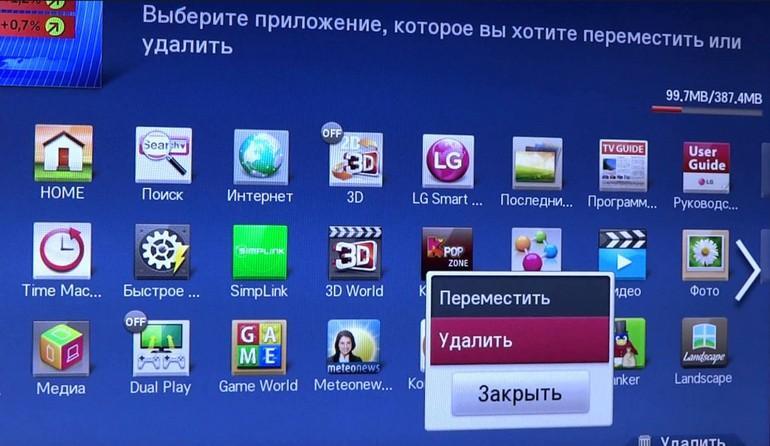 Очистка памяти телевизор Smart TV: как решить проблему и в чём её причина
