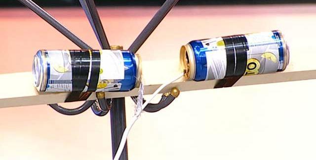 Антенна для Цифрового ТВ из пивных банок своими руками